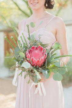 Desert-inspired Bridal Bouquet by David Madison and #madisonworkshopwest #gethitchedinpalmsprings