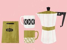 Coffee Time by Lynette Carson, Freelance Illustrator   LynetteCarson.com