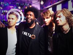 My guys with Questlove after the drumathon
