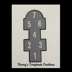 A personal favorite from my Etsy shop https://www.etsy.com/listing/474704115/hop-scotch-die-cut-scrapbook-premade