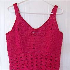 Butterfly Summer Tank Top   Free Crochet Pattern