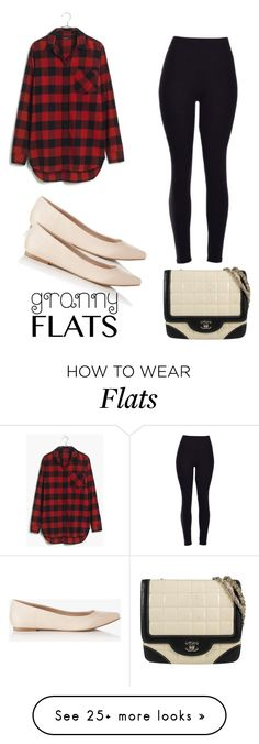 """Rock Flats"" by jules-rose on Polyvore featuring Madewell, Chanel, Express, women's clothing, women's fashion, women, female, woman, misses and juniors"