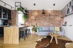 Loft Design, House Design, Loft Kitchen, Wooden Kitchen, Kitchen Island, Corner Desk, Modern, New Homes, Furniture