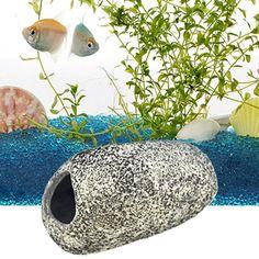 Aquarium Fish Tank Ornament Cichlids Hiding Rocks Stone Cave Fish Tank Landscape Decoration