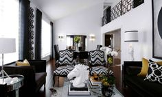 black and white is a great combination to your luxury living room. interior design ideas for a modern living room