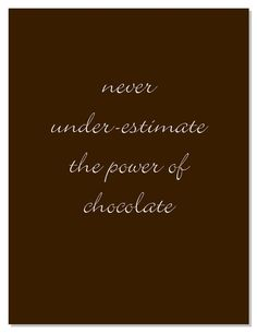 Never under-estimate the power of Belfine chocolate. The cute chocolate figurines make everyone smile & they taste as good as they look! (fun food quotes)