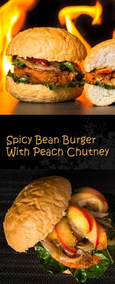 Spicy Pork Sandwich with Grilled Peach Chutney and Quick Pickles ...