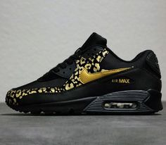 Nike WMNS Air Max 90-Black-Metallic Gold-Anthracite