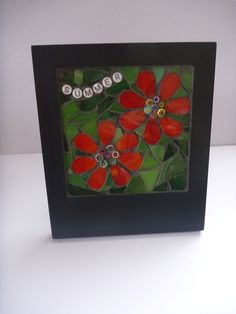 Summer flowers mosaic picture £15.00