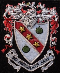 Wellman Family Crest  - EMBROIDERED  COAT OF ARMS