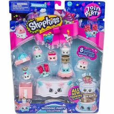 Shopkins Join the Party Theme Pack - Wedding Party Collection Shopkins Join The Party, Shopkins Season 7, Shopkins Guide, Toys For Girls, Kids Toys, Shopkins Happy Places, Wedding Of The Year, Cool Wedding Cakes, Plushies