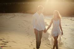 Casual wedding photo by the beach inspiration | Project by Paper Cranes Productions http://www.bridestory.com/paper-cranes-productions/projects/cameron-danicas-pre-wedding-cinematic-portraiture-breeze-dawn