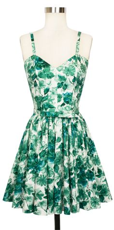 Dress the Trashy Diva Ruby Mini Dress in Jade Watercolor up or down for a flirty look!