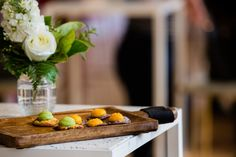 Cocktail Canapes in the Isabella Fraser Room at the State Library Victoria by Showtime Event Group Floral pieces by Bouquet Melbourne