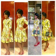 My 'DIY' ankara dress,looove VLISCO fabrics