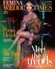 Sexy Pooja Hedge on Femina Wedding Times Cover - Indiansite