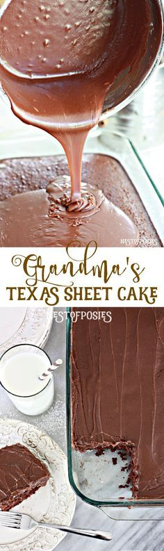 Texas Sheet Cake - the best recipe by far! - delicious and so easy