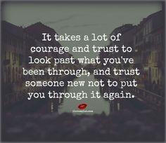 #courage #trust #through