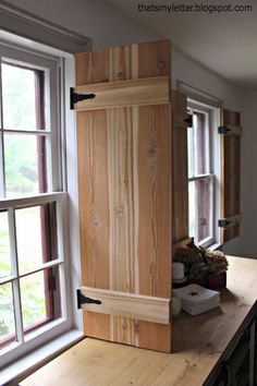 Ana White | Build A Interior Cedar Shutters Feature By Pretty Handy Girl |  Free