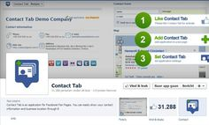 Contact Tab is an application for Facebook Fan Pages. You can easily show your contact information and business location through B