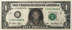 DONOVAN MCNABB Eagles - Real Dollar Bill Cash Money Collectible Memorabilia Celebrity Novelty Bank Note Dinero by Vincent-the-Artist, $7.77 USD