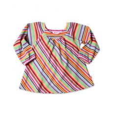 Super Stripe Viola Top - Long Sleeve