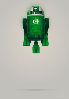 Green Droid Corps! | Starwars Droid R2-D2 Superheroes on Behance