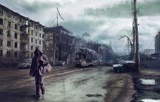 Post Apocalyptic City Road, Sanya Laneyev on ArtStation at https://www.artstation.com/artwork/8KwP6