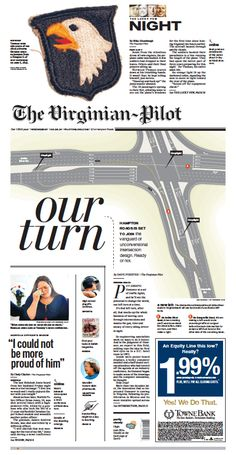 The Virginian-Pilot's front page for Wednesday, June 4, 2014.