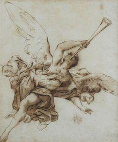 Miguel Angel, Wings Sketch, Blackwork, Religious Tattoos, Biblical Art, Angels And Demons, Chest Tattoo, Renaissance Art, Gravure