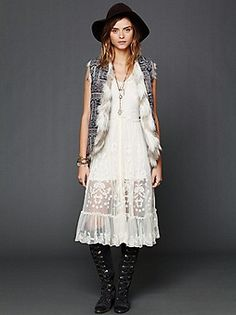 Want! Intimately Free People Clothing Boutique > Embroidered Button Front Slip
