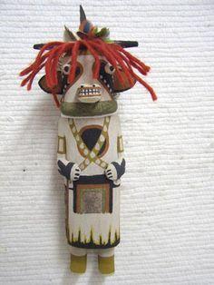 Old Style Hopi Carved Cow Traditional Animal Katsina Doll by Raynard Lalo