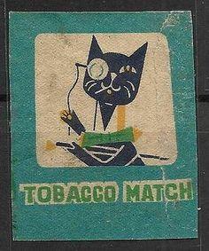 Old Matchbox Label japan car