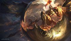 ArtStation - Kayle-League of Legends, Suke ∷