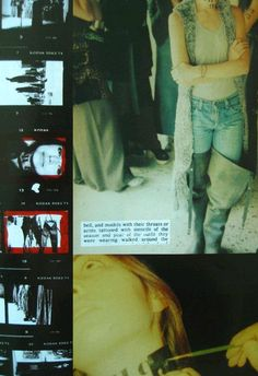 """Martin Margiela spring / summer 1994  """"Choose the best of five years, dye the whole thing, put it in an ex-supermarket and show it again. Interrupt the flux. Don't go with it. Don't feed the ferocious hunger. Resist. It works. I want a second set of every piece in grey. There is a structured thought behind every presentation. It is always intelligent."""" — Marina Faust  Anders Edström. L'hiver de l'amour bis"""