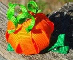 Pumpkin Ribbon Sculpture