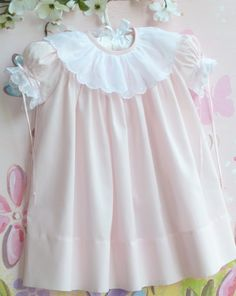 Pink Batiste Dress and Slip Sizes 1 2 and 3 Smocked Baby Dresses, Baby Girl Party Dresses, Little Girl Dresses, Flower Girl Dresses, Vintage Baby Dresses, Baby Girl Pink Dress, Baby Girl Fashion, Kids Fashion, Frocks And Gowns