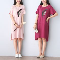 Cheap dress shirts short men, Buy Quality dress outfits for women directly from China dress cocktail dress Suppliers: Plus Size Loose Summer Dress Short Sleeve 2016 New Fashion Dresses Landscape Print Cotton Linen Dress Women Vestidos Muj