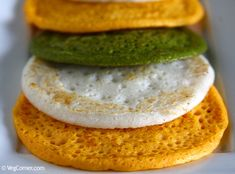 Spongy Pumpkin Dosa: Turn meal time into fun time by preparing these colorful dosas using a variety of vegetables and greens. Healthy Indian Recipes, Ethnic Recipes, Gourmet Recipes, Vegan Recipes, Snack Recipes, Dinner Recipes, Dosa Recipe, Indian Breakfast, South Indian Food