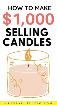 Selling candles from home - Do you want to sell your homemade candles for money? In this post, you will learn differetn ways to sell candles online, how to sell candles online, where to sell candles online and so much more. Work From Home Options, Work From Home Careers, Work From Home Companies, Online Jobs From Home, Legitimate Work From Home, Work From Home Opportunities, Earn Money Online Fast, Where To Sell, Student Jobs