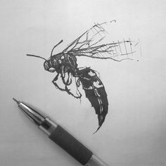 W A S P #tattoo #pen #Lisbeth #nakrk #wasp #draw