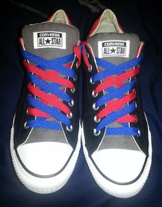Ian's Shoelace Site - SO many crazy awesome ways to lace your shoes to add a little spice to your wardrobe! How To Tie Laces, Decorate Shoes, Ways To Tie Shoelaces, Lacing Shoes, Creative Shoes, Diy Fashion, Fashion Tips, Tie Shoes, Lace Patterns