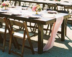 silk runner | blush silk table runner | silk table runner | blush ribbon|  blush table runner | blush silk chiffon table runner | wedding