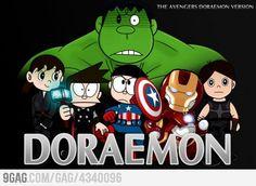 The Avengers Doraemon version Avengers 2012, Marvel Avengers, Gamer's Guide, Arrow Black Canary, Doraemon Wallpapers, Four Arms, Manga Anime One Piece, Deathstroke, Avengers Infinity War