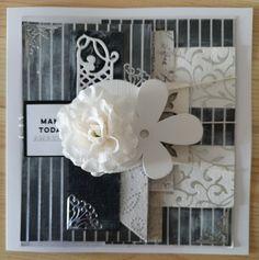 #mixedmedia #scrapbooking #cards #handmade #black&white