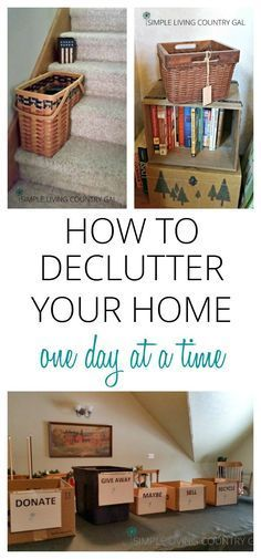 Decluttering your home can be a daunting task, but if you do it one day at a time you will see progress before you know it! via @SLcountrygal