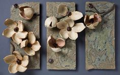 Ceramic Flower Wall Art for 2020 Les Magnolias: Amy Meya: Ceramic Wall Art – Artful Home Clay Wall Art, Ceramic Wall Art, Ceramic Clay, Clay Art, Ceramic Pottery, Pottery Art, Clay Flowers, Ceramic Flowers, Technique Photo