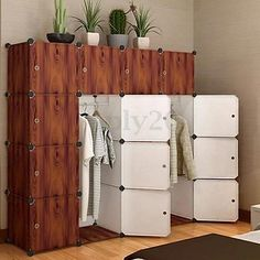 9 Cube Portable Closet Storage Organizer Clothes Wardrobe Rack Shelves Decor DIY