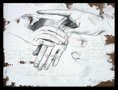 """TEMPLANZA. Grafito y lápiz de color sobre tabla preparada. 30x40 Obra de la serie """"7 Virtudes"""" del proyecto SEPTIES SEPTEM."""