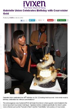 Ombre and Bangs Vibe Magazine, Ready For Marriage, Gabrielle Union, Happy Birthday Me, Birthday Celebration, Holiday Parties, Hair Color, Bangs, Vixen